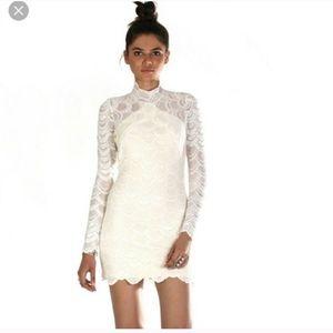 Gorgeous cream lace nightcap dress